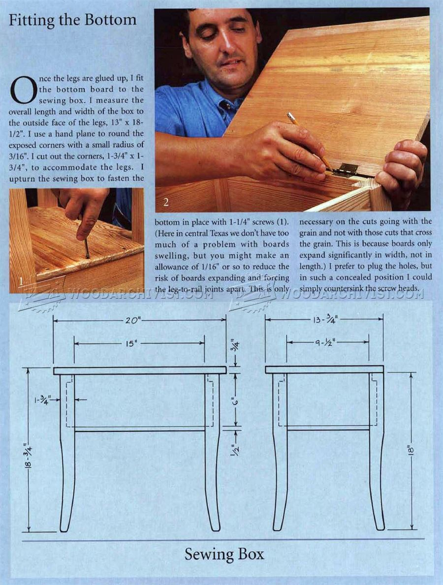Sewing Box Plans
