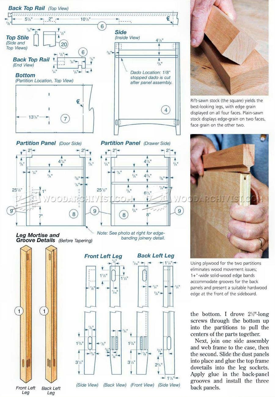 Cherry Sideboard Plans