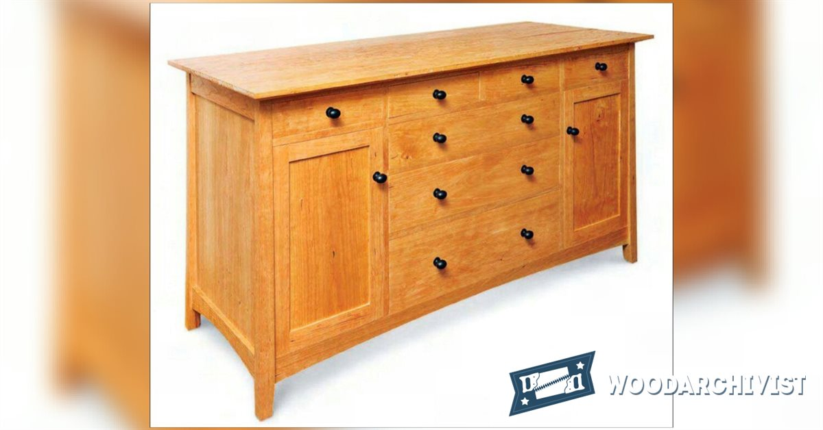 Cherry sideboard plans woodarchivist