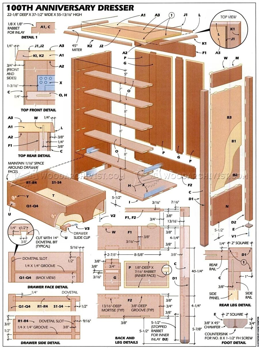 Bedroom Furniture Plans • WoodArchivist