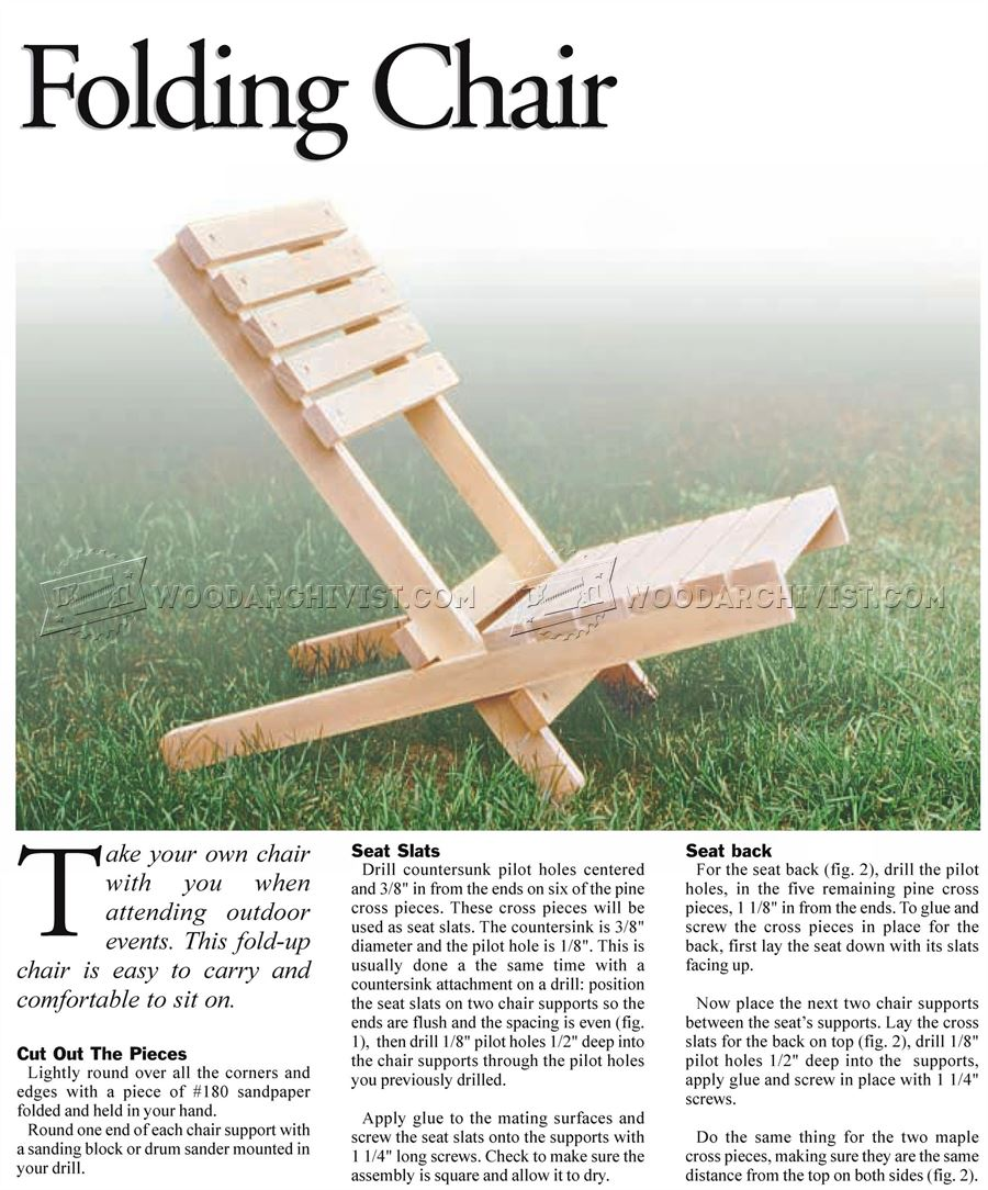 Wood folding chair outdoor - Folding Chair Plans