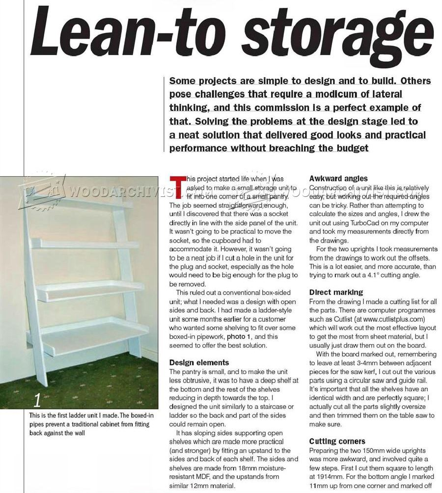 Ladder Shelving Unit Plans