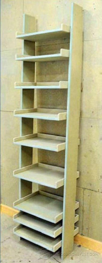 1573-Ladder Shelving Unit  Plans