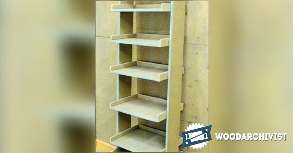 Ladder Shelving Unit Plans Woodarchivist
