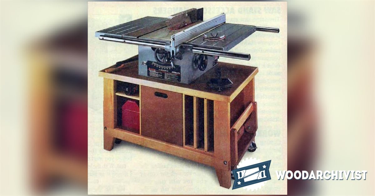 Table Saw Plan : 1578 Table Saw Stand Plans • WoodArchivist