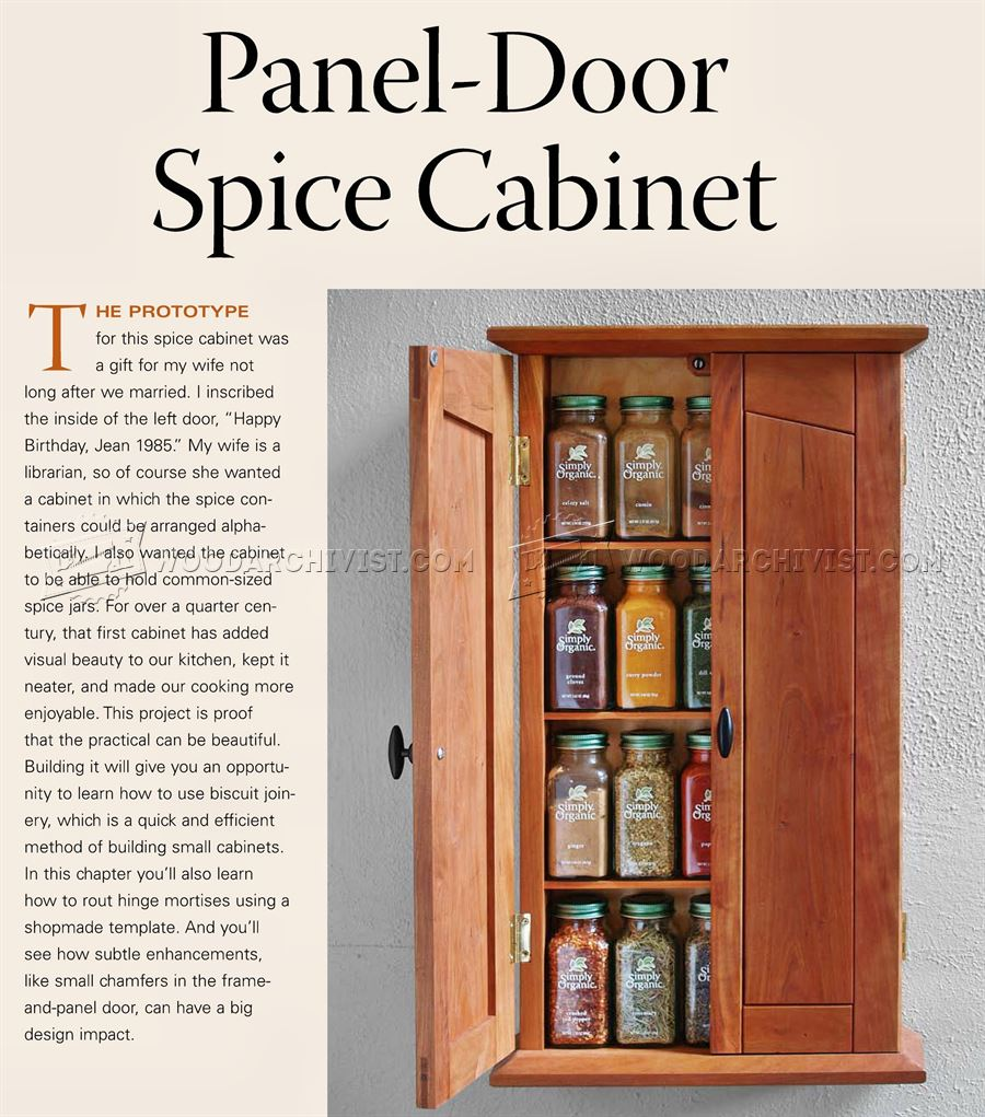 Spice Cabinet Plans WoodArchivist