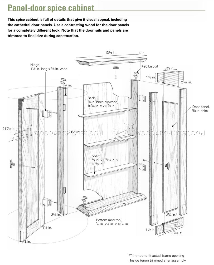 Spice Cabinet Plans