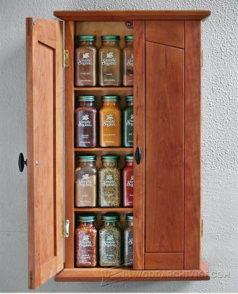 1583-Spice Cabinet Plans