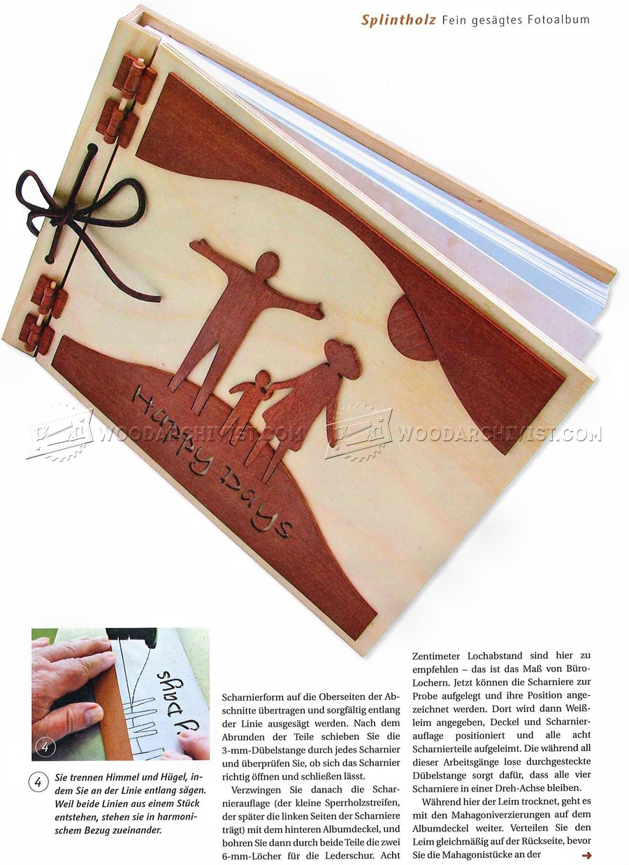 #1587 Making Wooden Photo Album