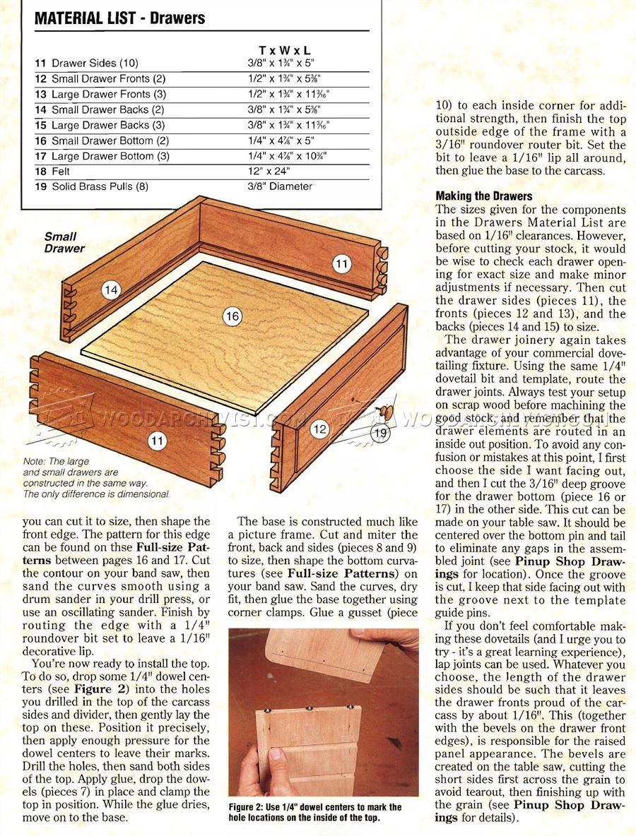 Heirloom Jewelry Box Plans Woodarchivist