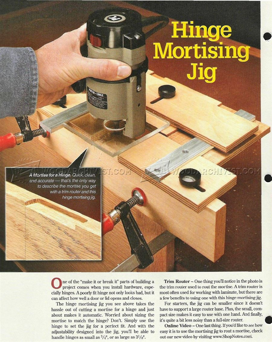 Kitchen Door Hinge Mounting Jig