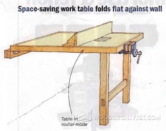 1592-Fold Down Work Table Plan