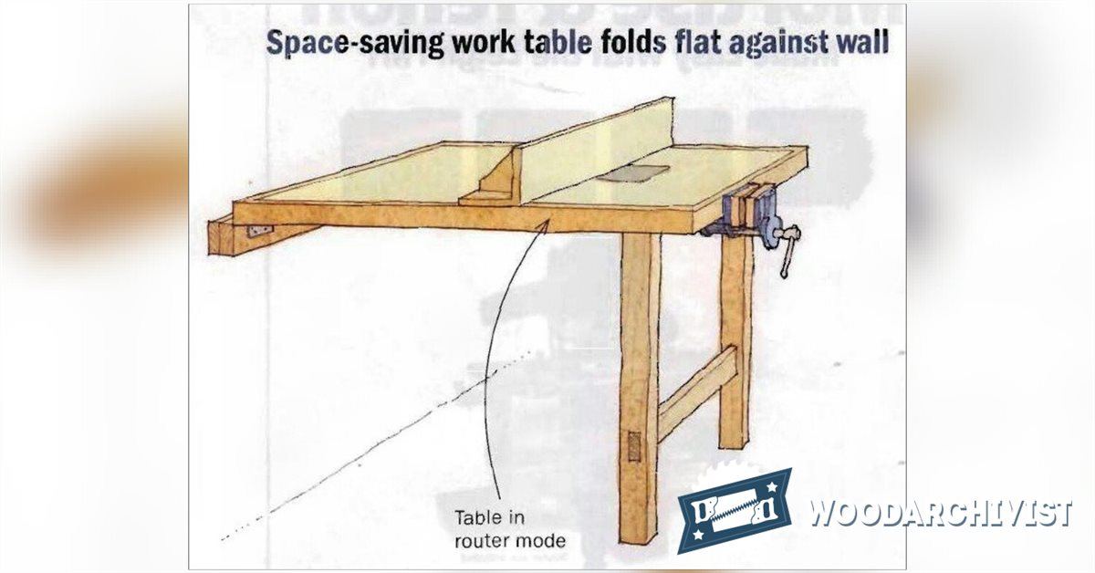 Fold Down Work Table Plan Woodarchivist