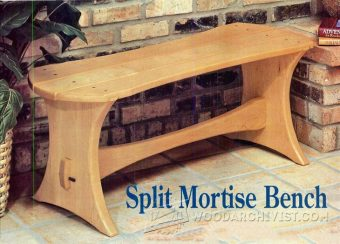 1596-Split Mortise Bench Plans