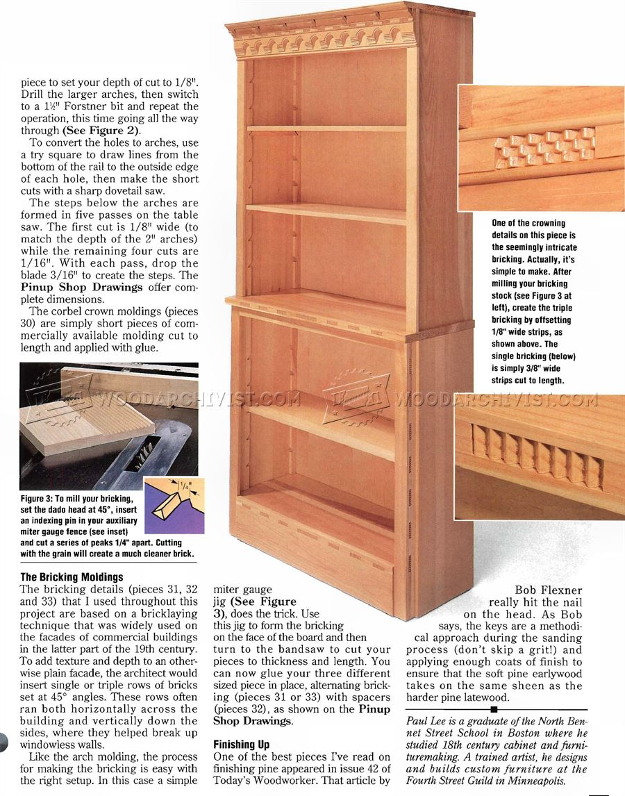 Diy Bookcase Woodarchivist