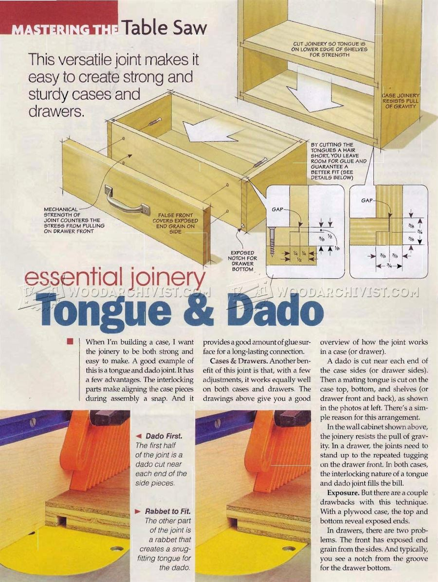 Tongue and Dado Joint