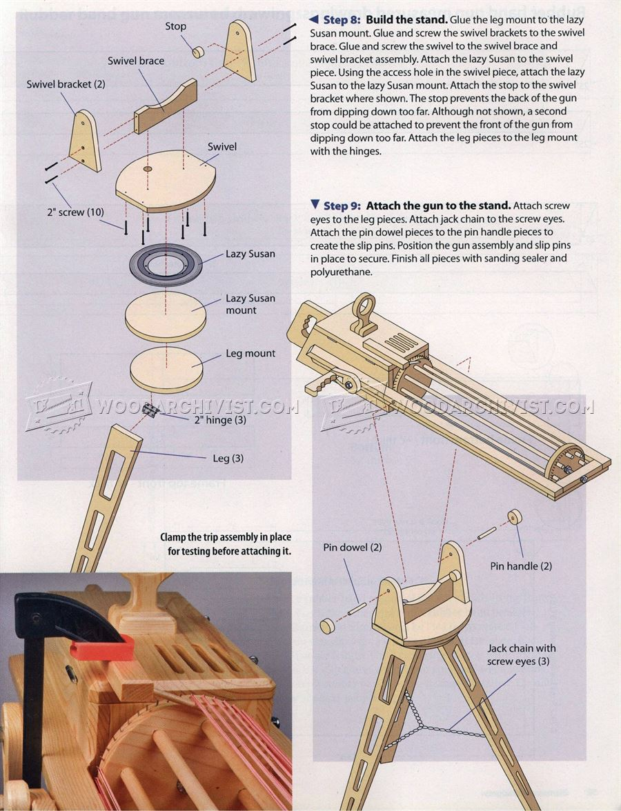 Rapid Fire Rubber Band Gun Woodarchivist