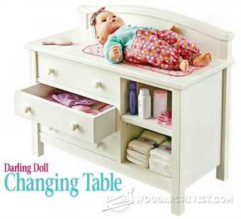 1608-Doll Changing Table Plans