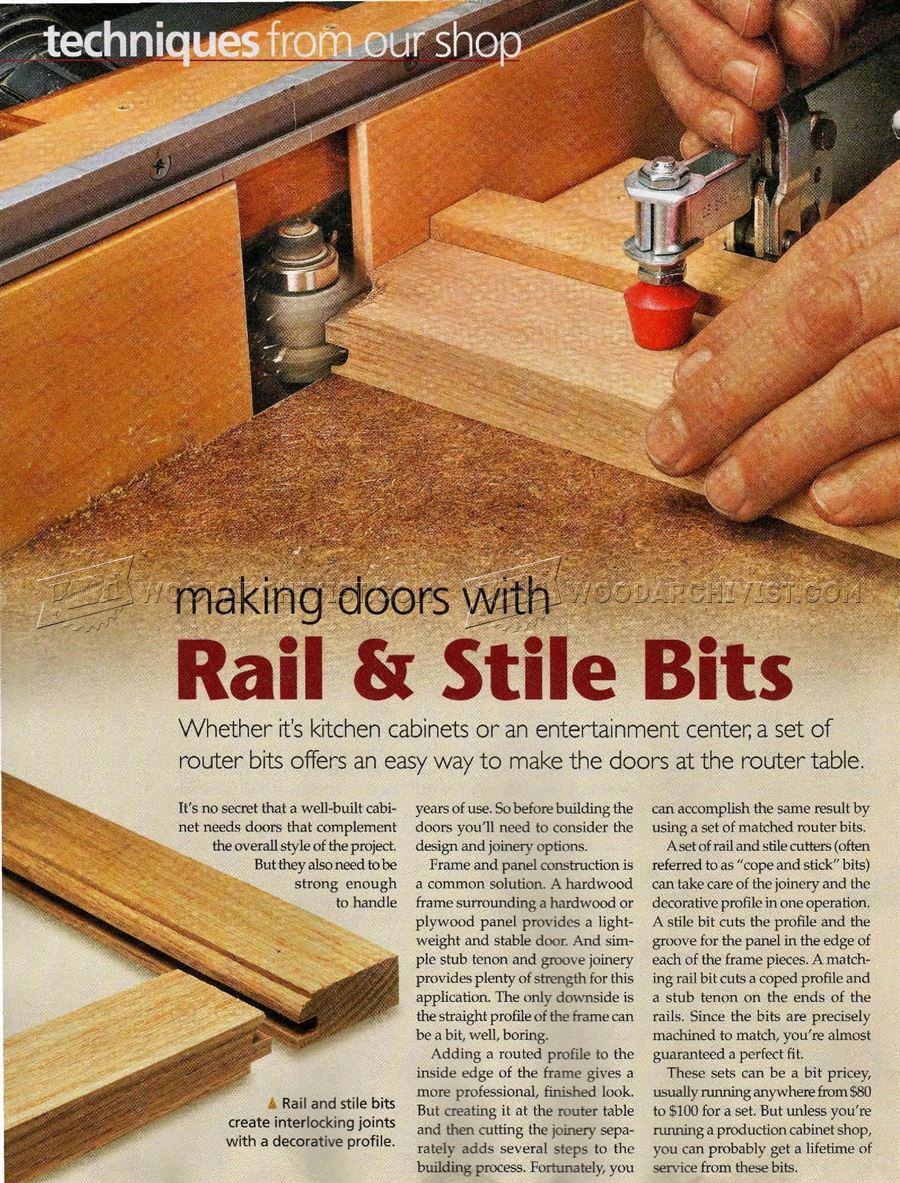 Making Doors With Rail and Stile Bits