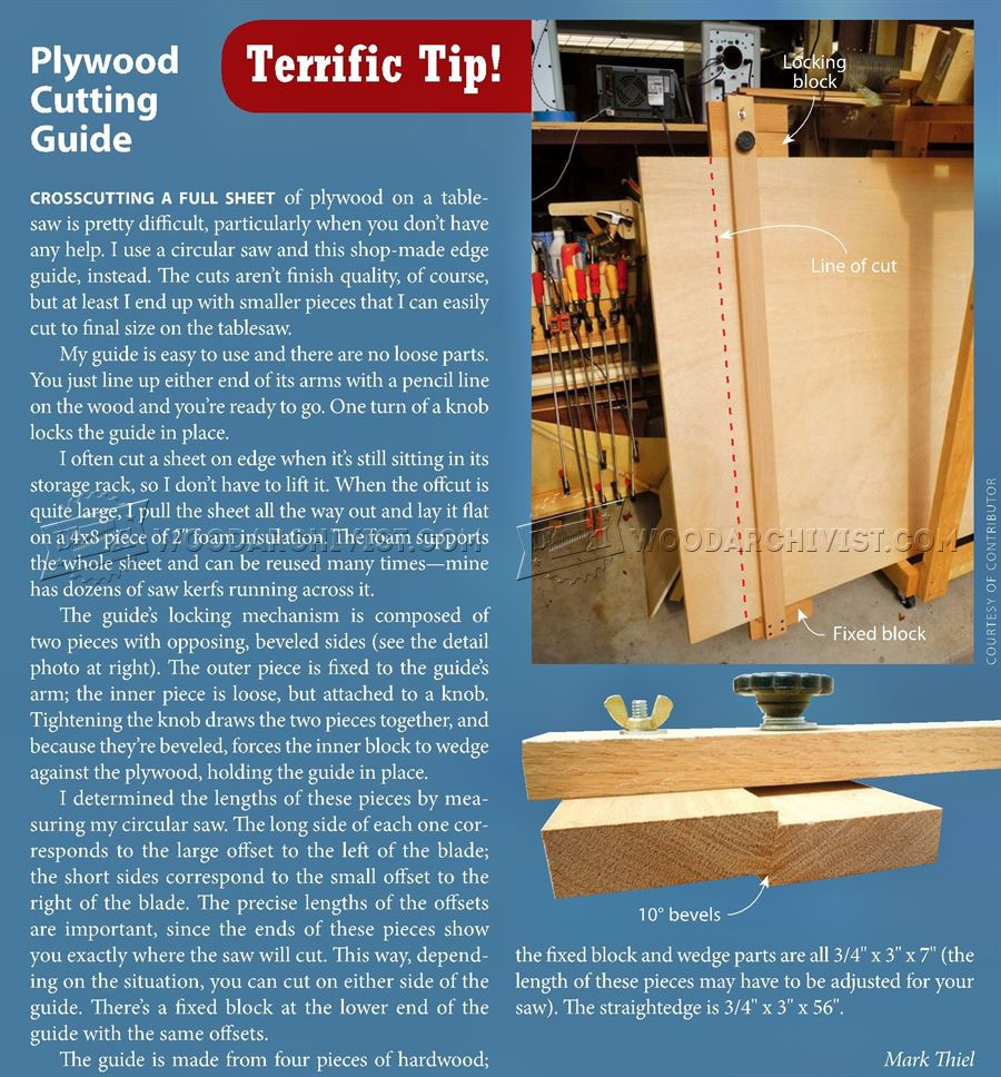 Plywood Cutting Guide