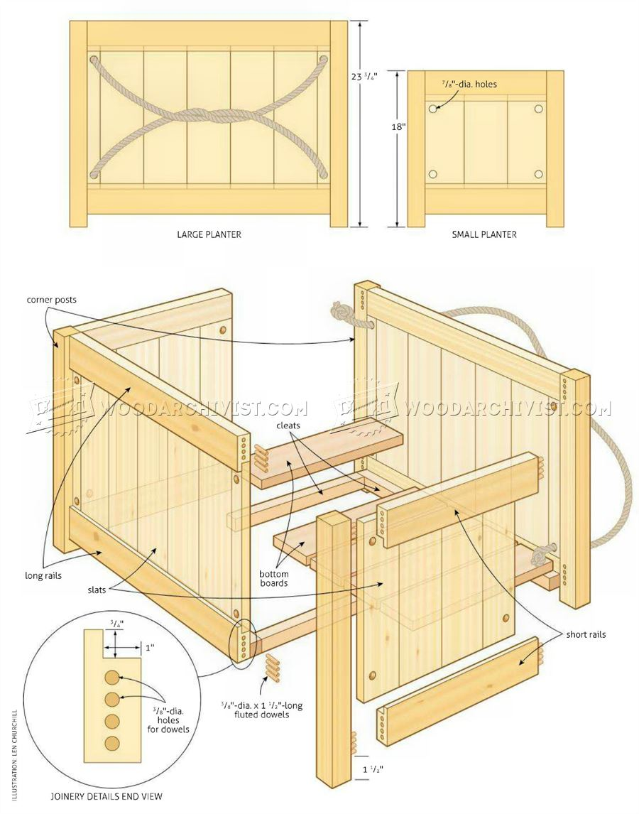 Cedar planter plans woodarchivist for Garden planter plans