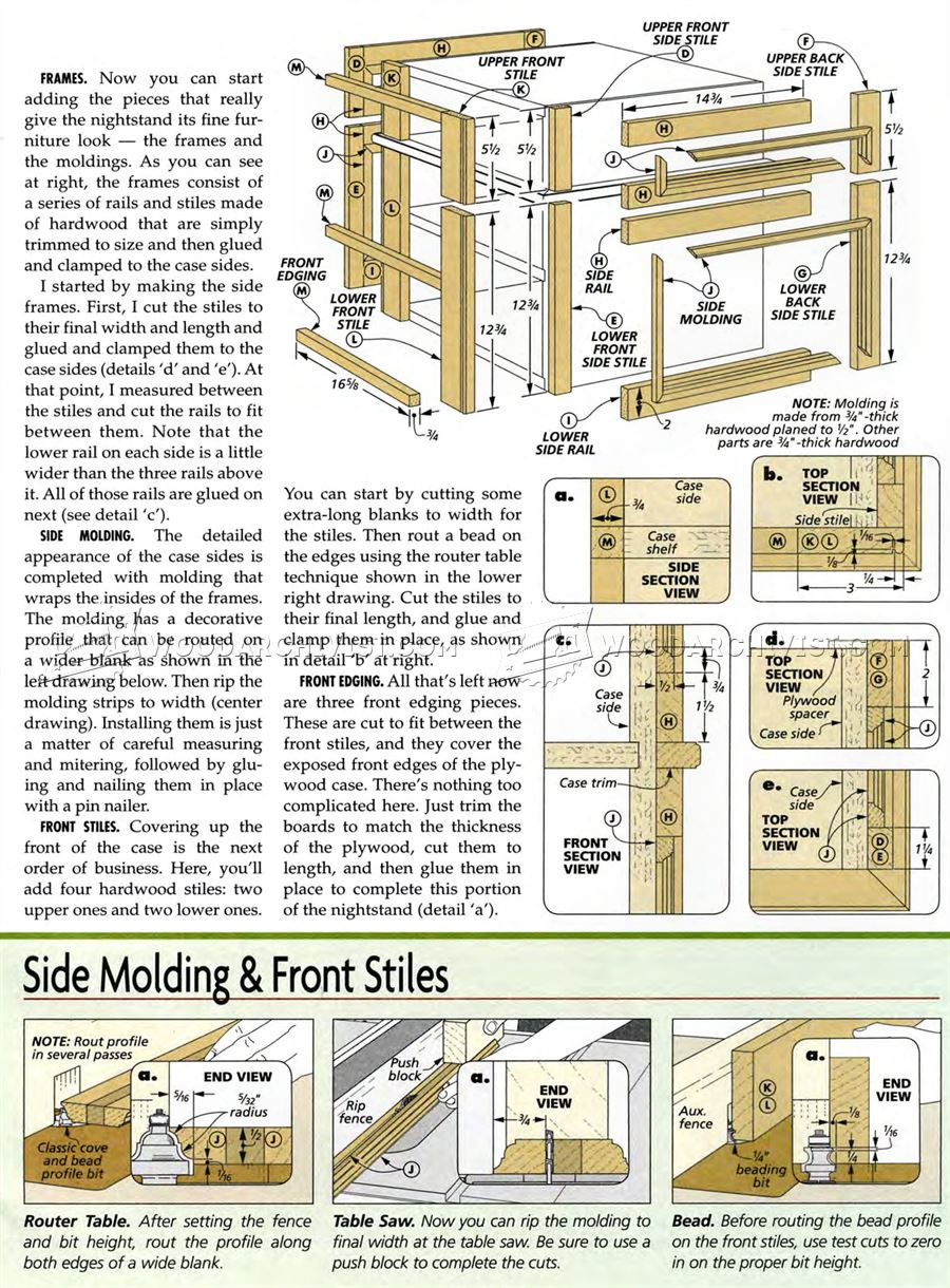 Woodworking Plans For Bedside Table