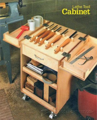 1640-Lathe Tool Cabinet  Plans