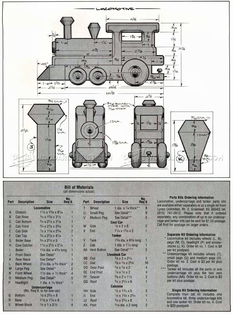 Wooden Toy Train Plans • WoodArchivist
