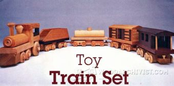 1641-Wood Toy Train Plans