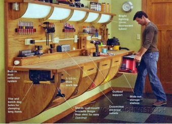 1645-Wall Hung Workbench Plan