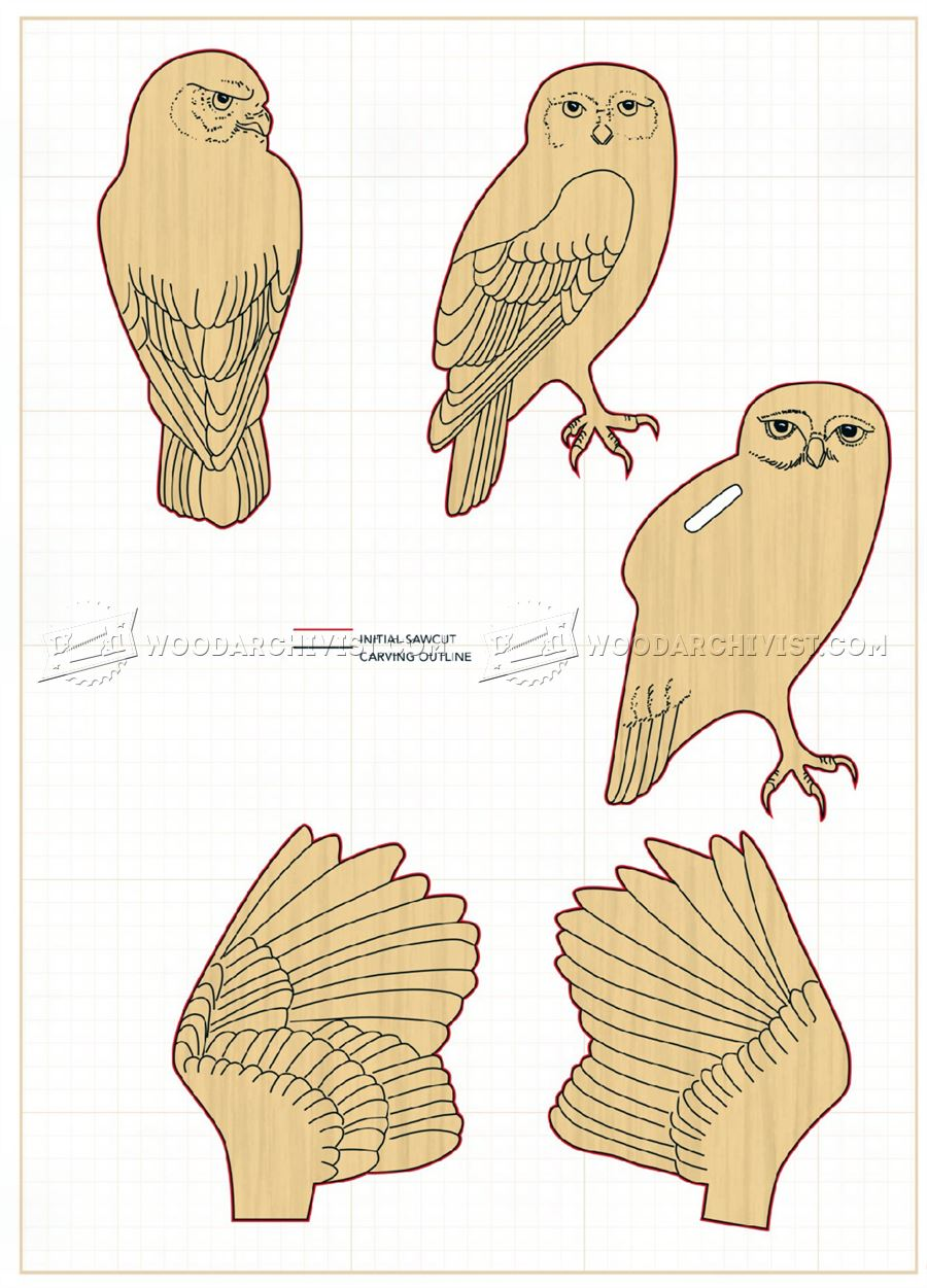 Carving owl wood patterns woodarchivist