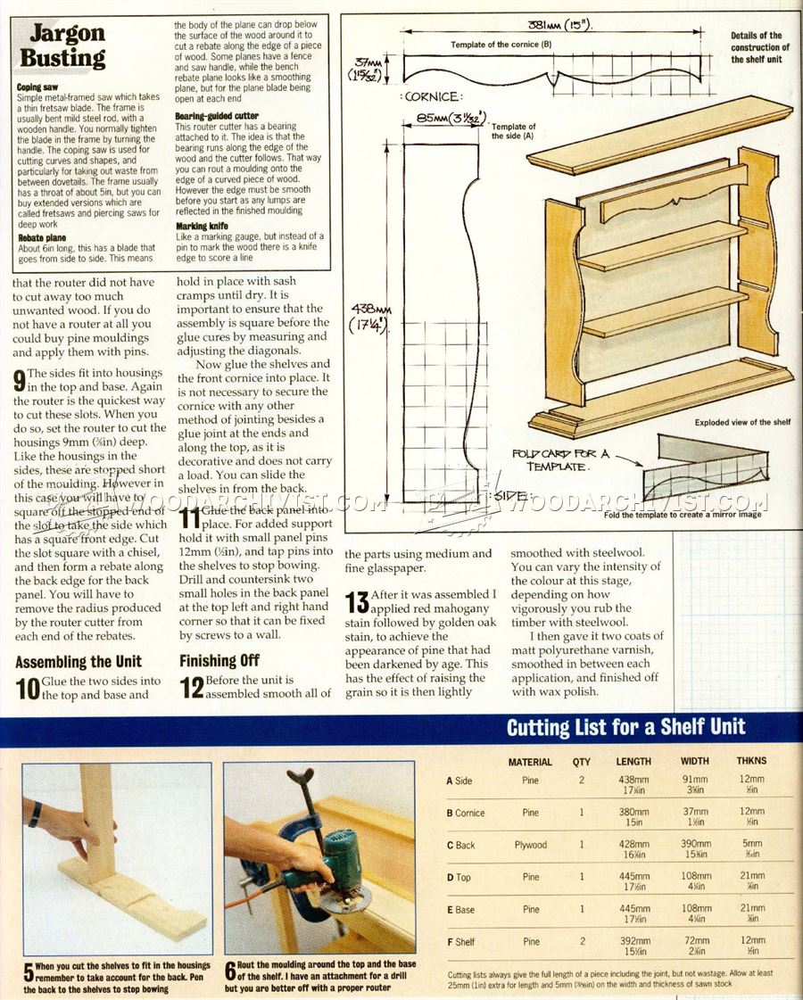 Solid Shelf Unit Plans