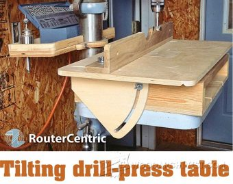 1655-Tilting Drill Press Table
