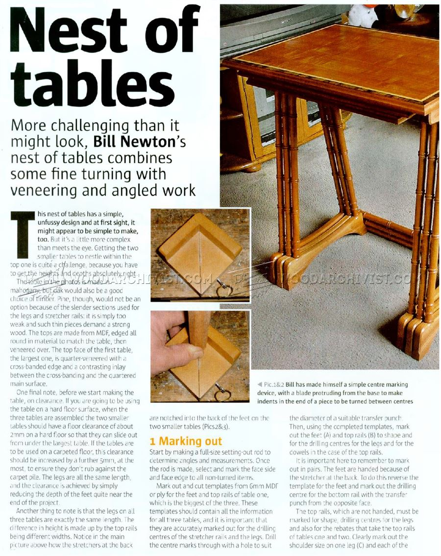 Nest of Tables Plans