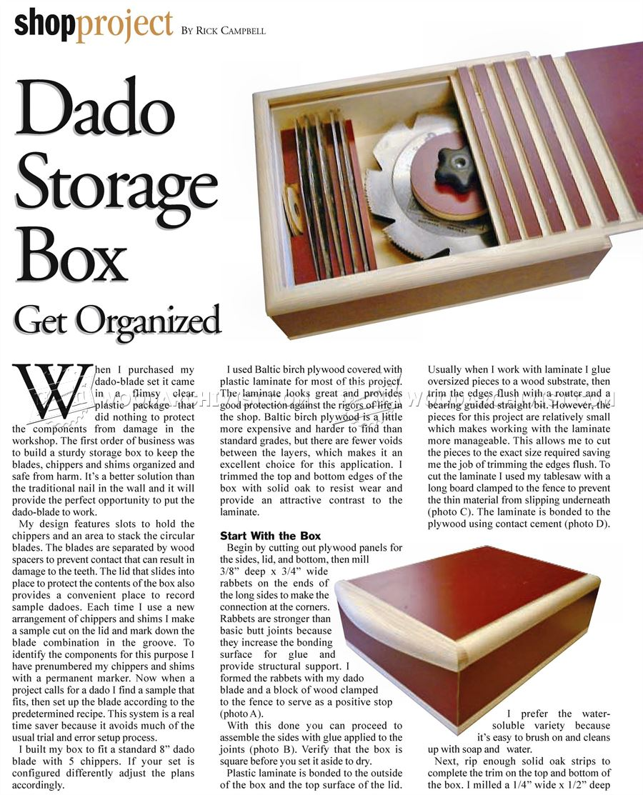 Dado Storage Box Plan