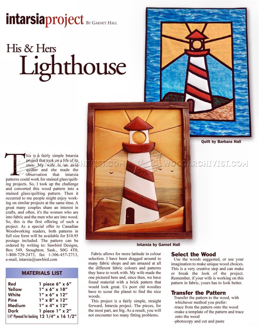 Lighthouse - Intarsia Patterns