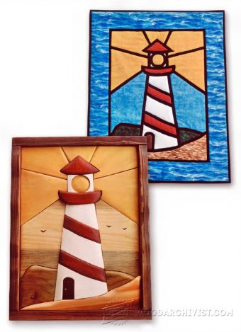 1675-Lighthouse -  Intarsia Patterns