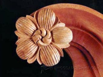 1687-Wood Rosette Carving