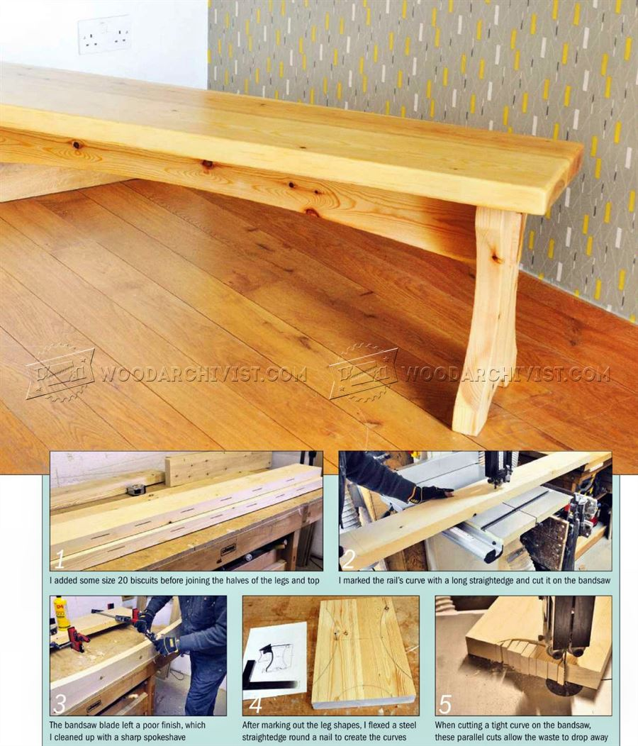 Softwood Bench Plans