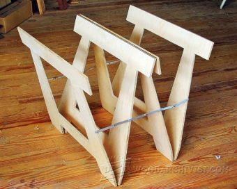 Folding Sawhorse Plans Woodarchivist