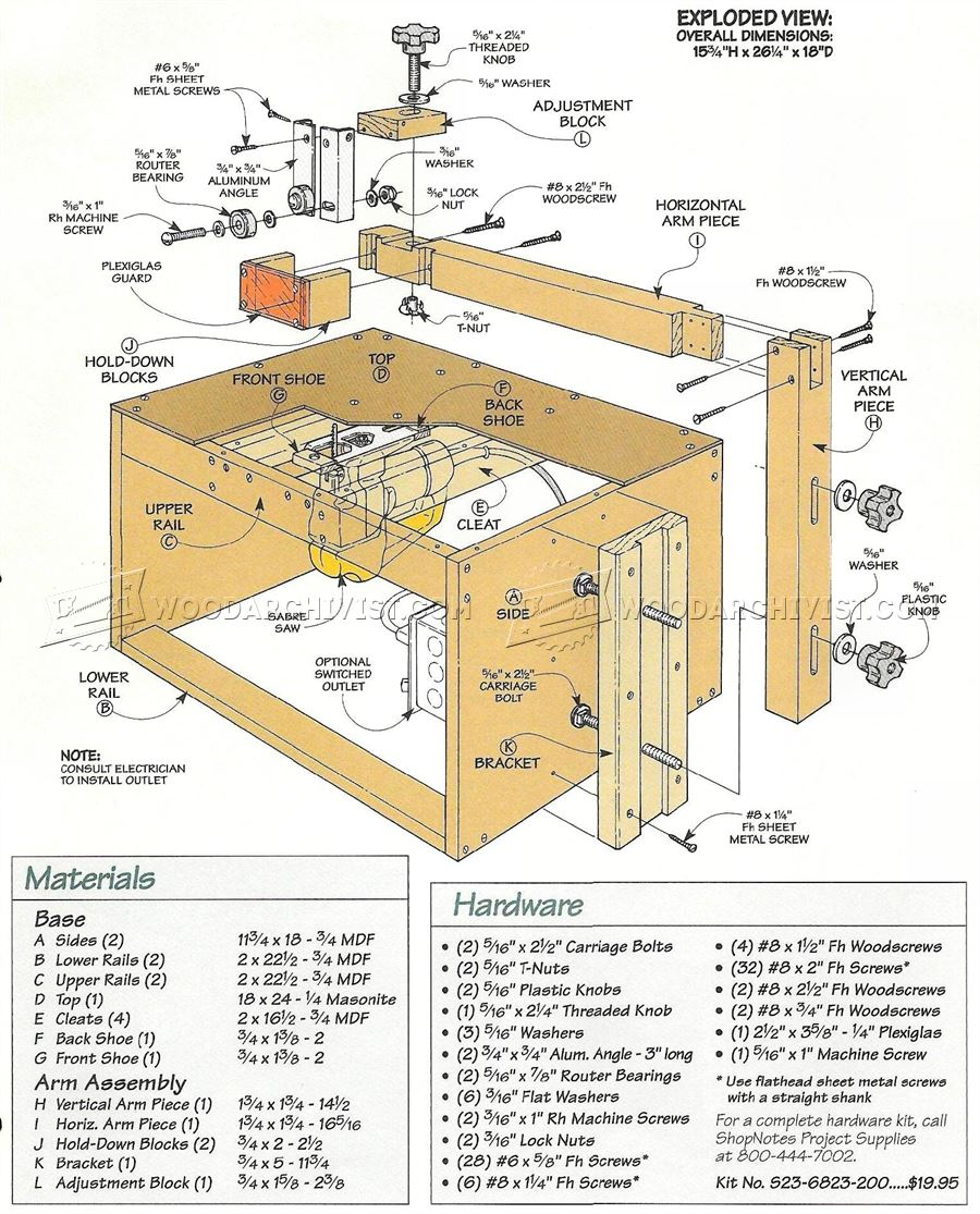 Table Saw Circle Cutting Jig Jigsaw Table Plans • WoodArchivist