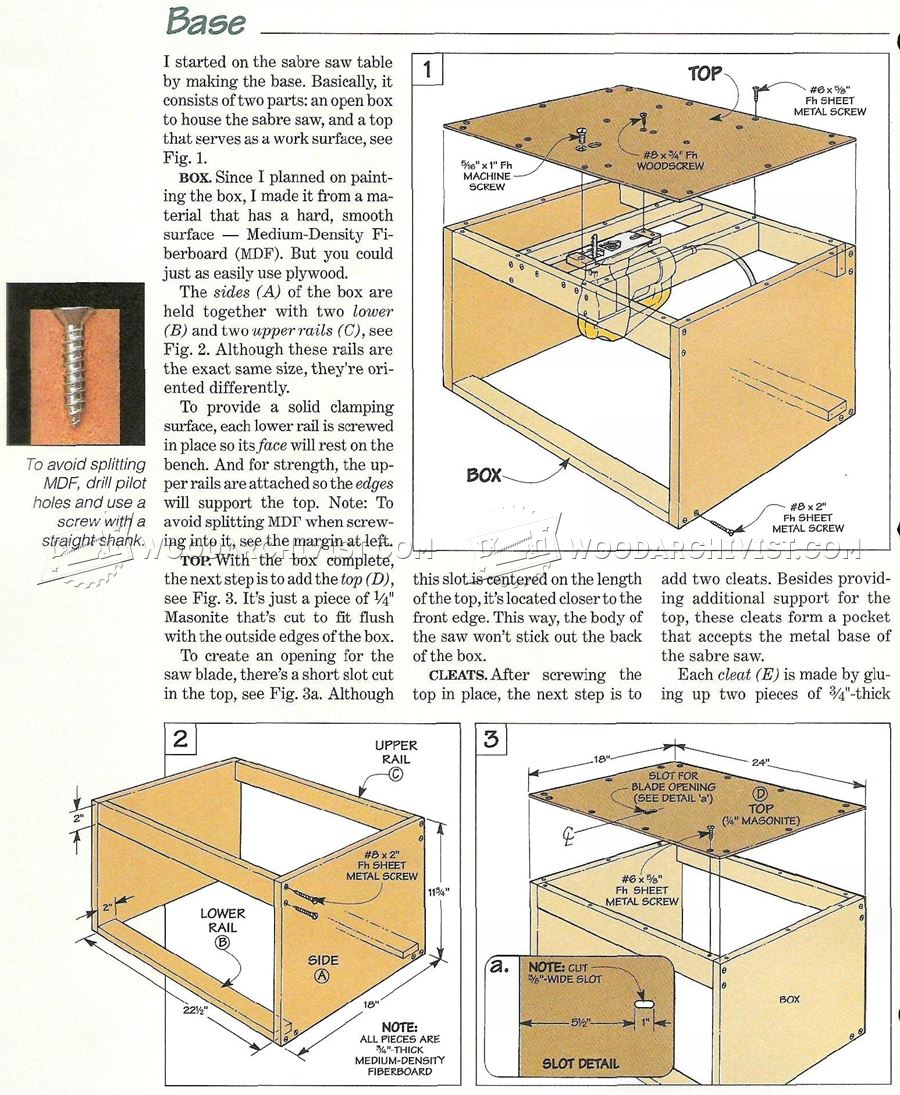 Jigsaw Table Plans • WoodArchivist