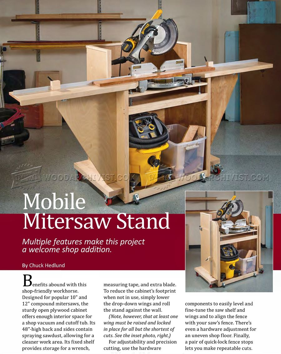 Mobile Miter Saw Stand Plans Woodarchivist