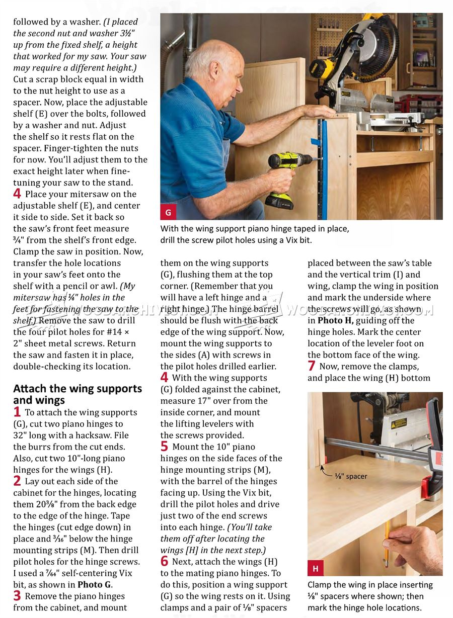 Mobile Miter Saw Stand Plans