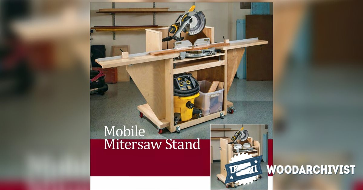 Mobile Miter Saw Stand Plans • WoodArchivist