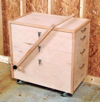 1717-Mobile Tool Chest  Plans
