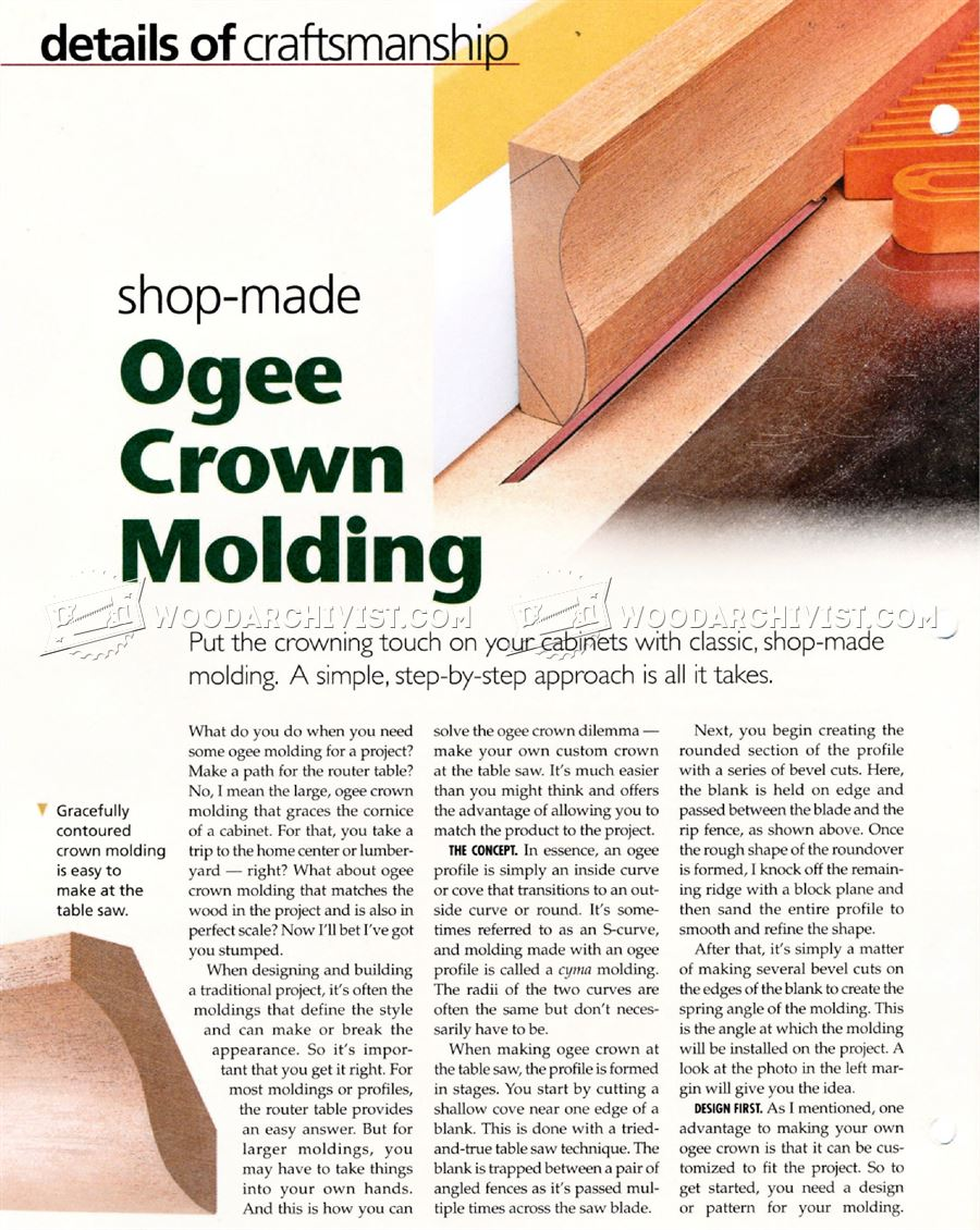 #1736 Making Ogee Crown Molding