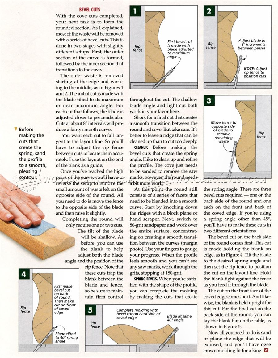 Making Ogee Crown Molding