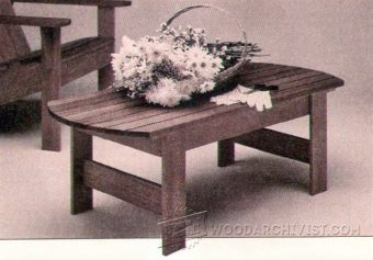1738-Patio Table Plans