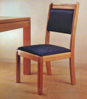 1739-Solid Oak Dining Chair Plans